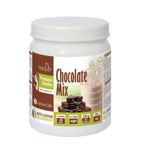 Čokoládový proteinový koktejl-mix se sladidlem