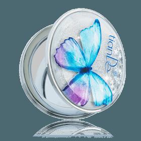 Kapesní kosmetické zrcátko TianDe kulaté s motýlem
