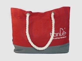 TianDe Plážová taška červená